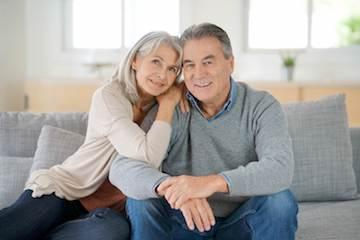 couple sitting on couch | dentist boise id