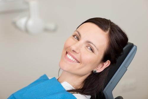 woman smiling before sedation dentistry in boise id