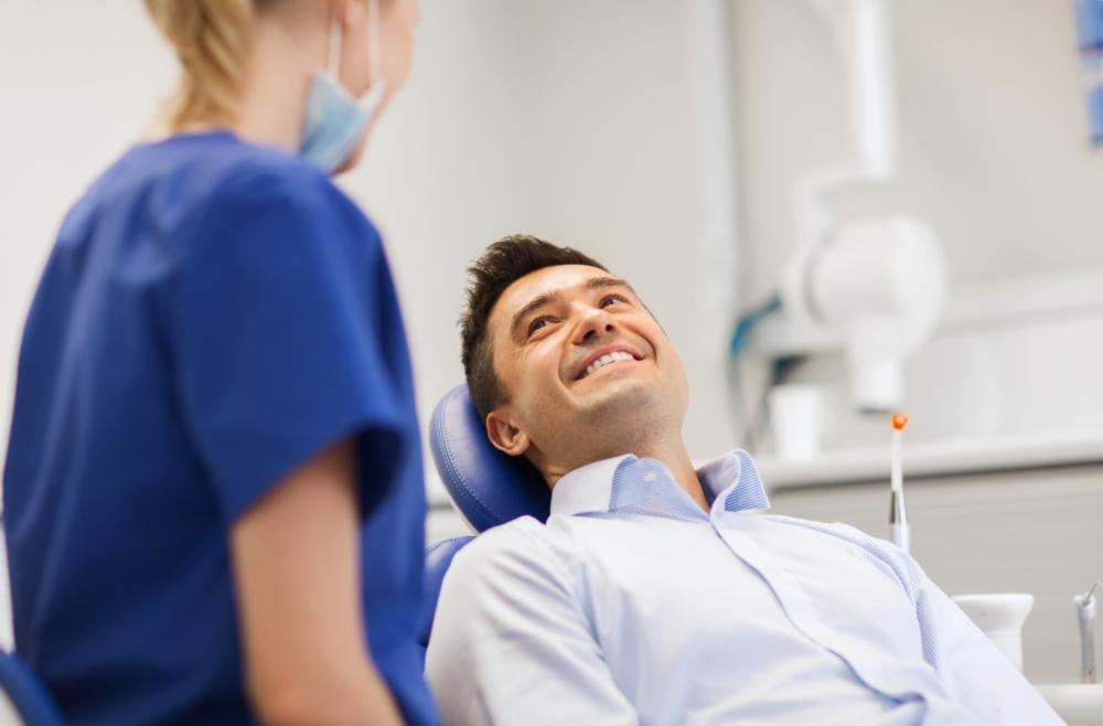 man at dental appointment | sedation boise id