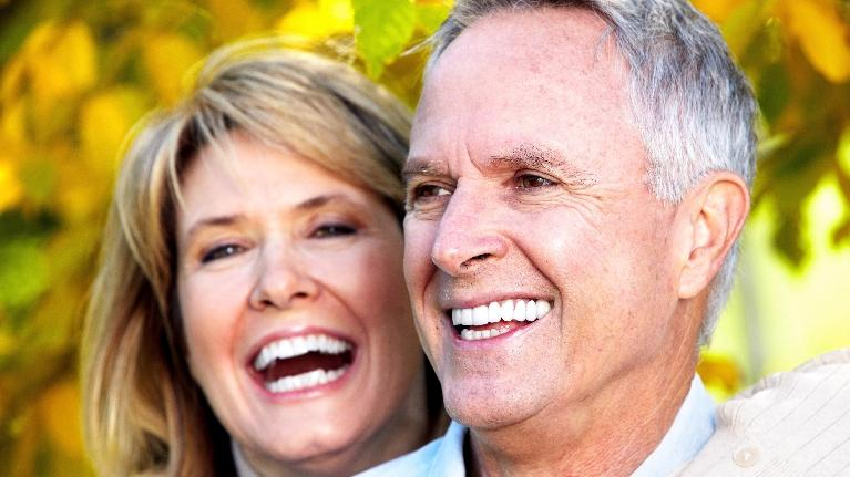 older couple with straight teeth | Invisalign dentist boise