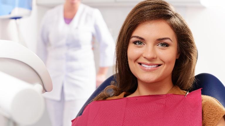 woman at dentist | general dentistry boise id