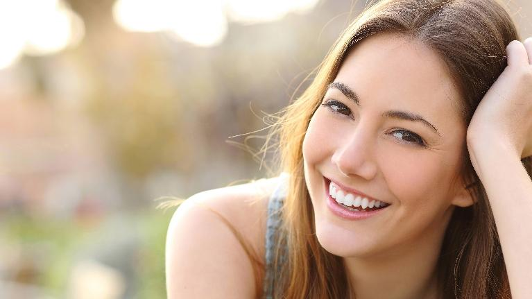 closeup of woman smiling | invisalign boise id
